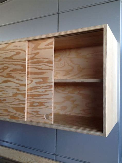 DIY Wall Cabinet With Sliding Doors