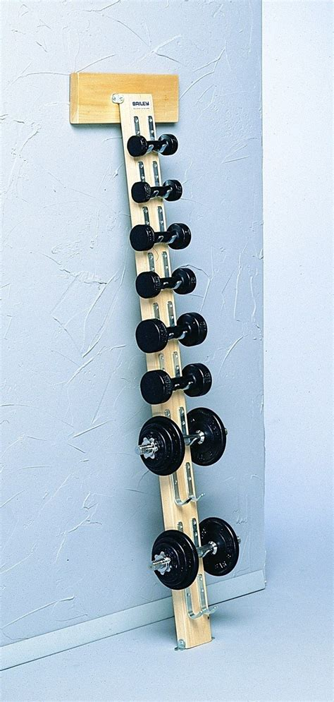 DIY Wall Mounted Dumbbell Rack