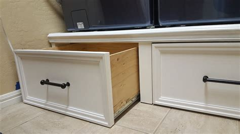 DIY Washer Dryer Pedestal With Drawers Plans