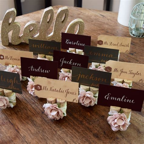 DIY Wedding Table Place Cards