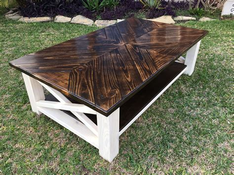 DIY White Coffee Table