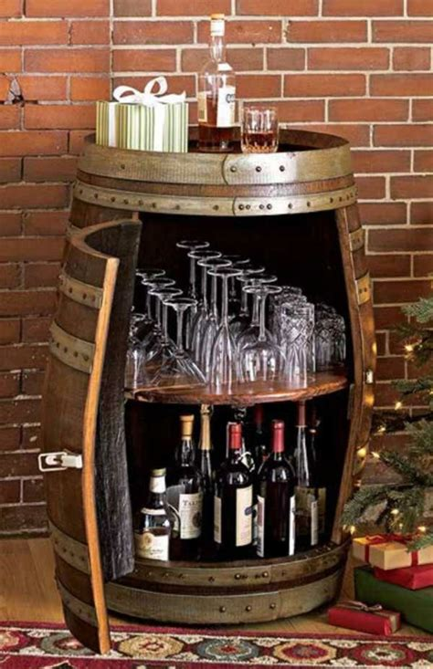 DIY Wine Barrel Bar Table