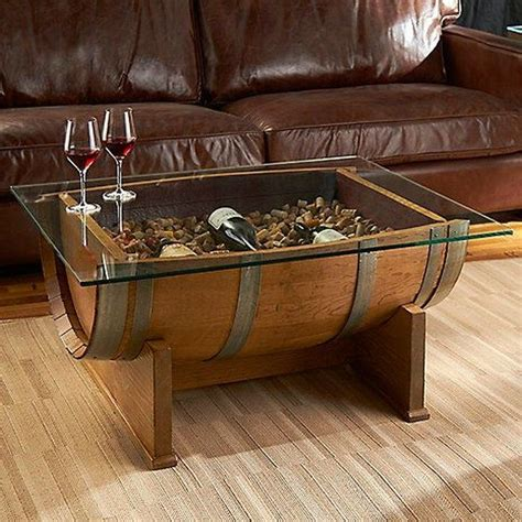 DIY Wine Barrel End Table