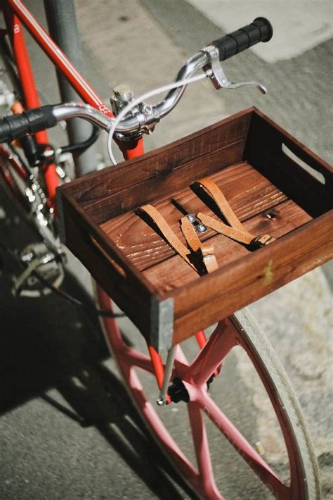 DIY Wood And Aluminum Bike Basket