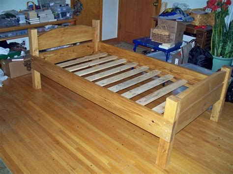 DIY Wood Bed Frame Plans Twin 2x4 Shelves Plans
