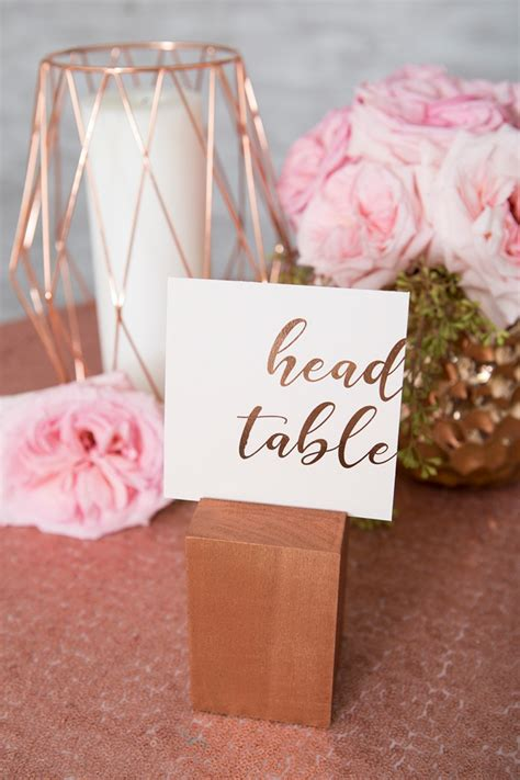 DIY Wood Block Table Numbers