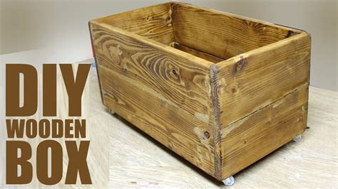 DIY Wood Box For Firewood
