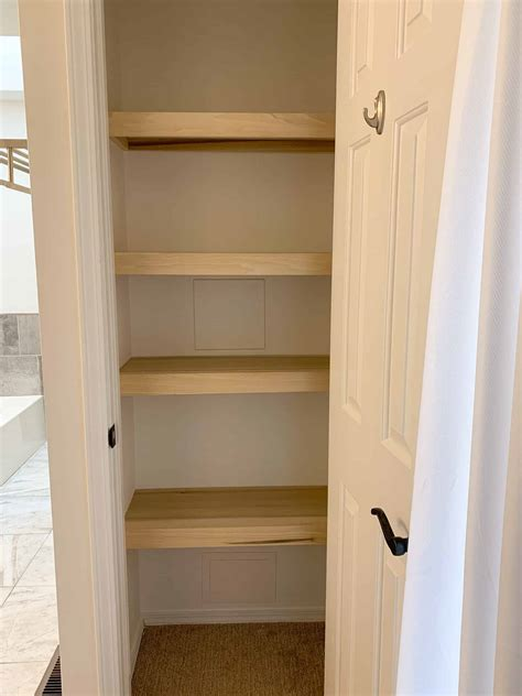 DIY Wood Closet Shelf
