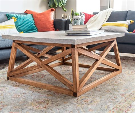 DIY Wood Coffee Table Base