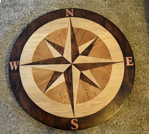 DIY Wood Compass Decor