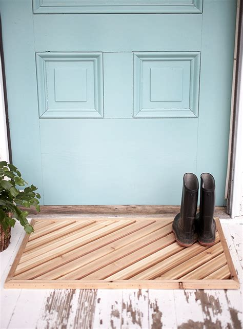 DIY Wood Doormat