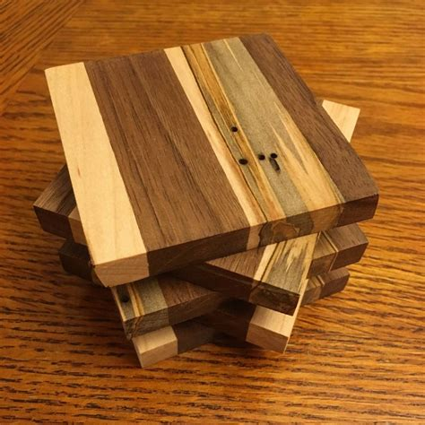 DIY Wood Drink Coasters