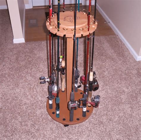 DIY Wood Fishing Rod Holder Plans