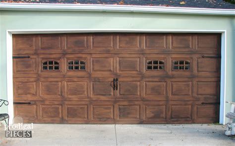 DIY Wood Grain Garage Door