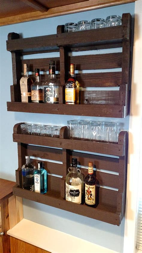DIY Wood Liquor Bar