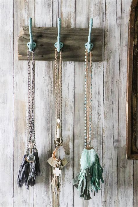 DIY Wood Necklace Stand