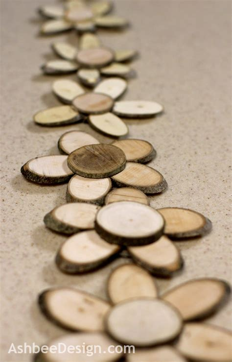 DIY Wood Slice Flowers