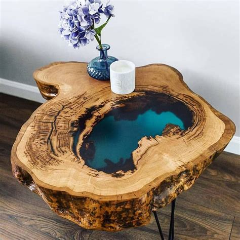 DIY Wood Table With Resin