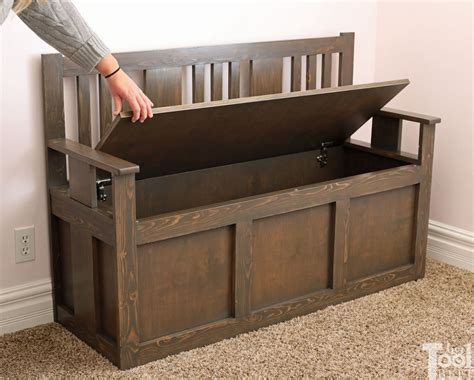 DIY Wood Toy Box With Bench