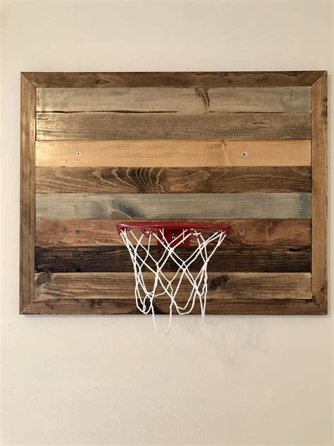 DIY Wooden Basketball Backboard