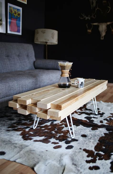 DIY Wooden Coffee Table Pinterest