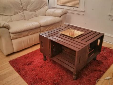 DIY Wooden Crate Coffee Table Instructions