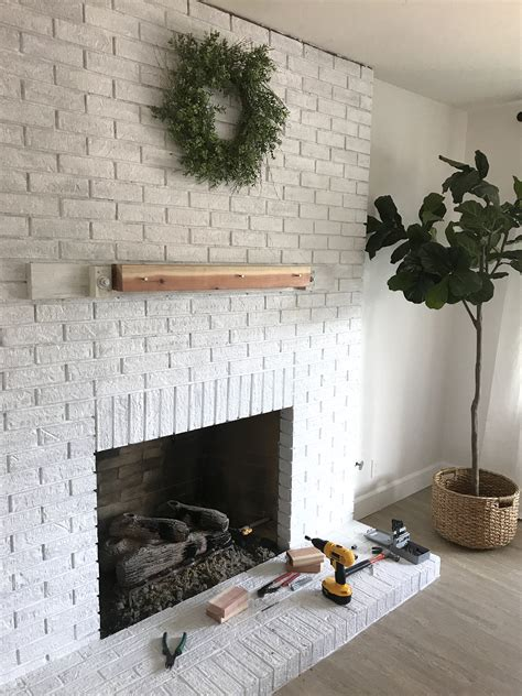 DIY Wooden Fireplace Mantel