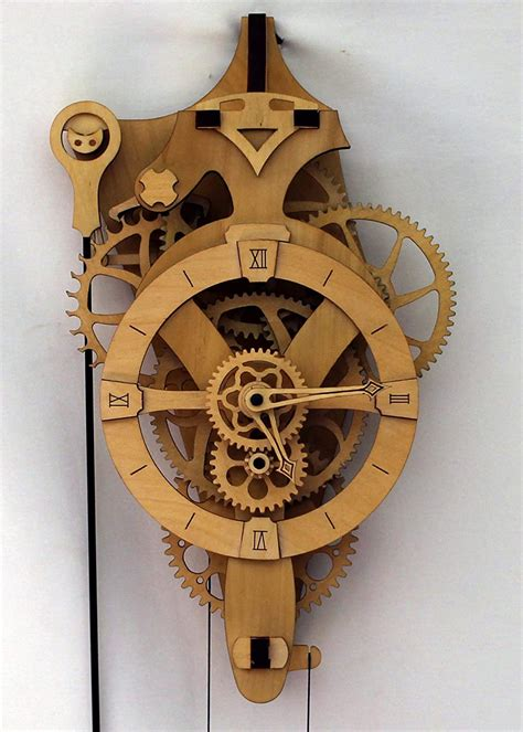 DIY Wooden Gear Clock