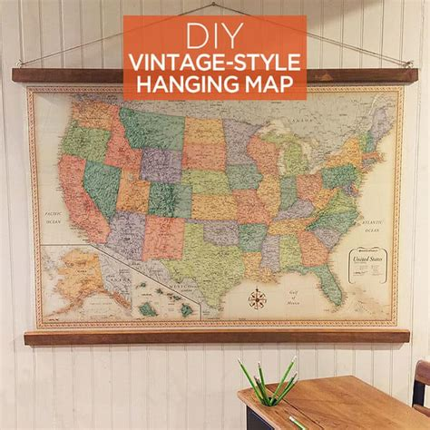 DIY Wooden Hanging Bars For Maps