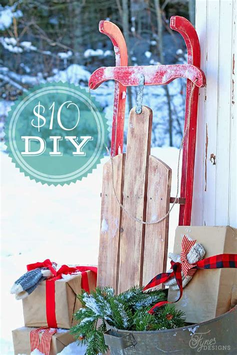 DIY Wooden Sledge