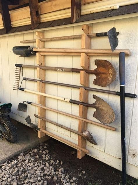DIY Yard Tool Rack