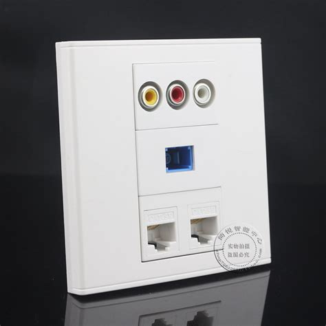 DUAL CAT5E RJ45 CONFIGURED WALL PLATE - WHITE Electronics Computer Networking