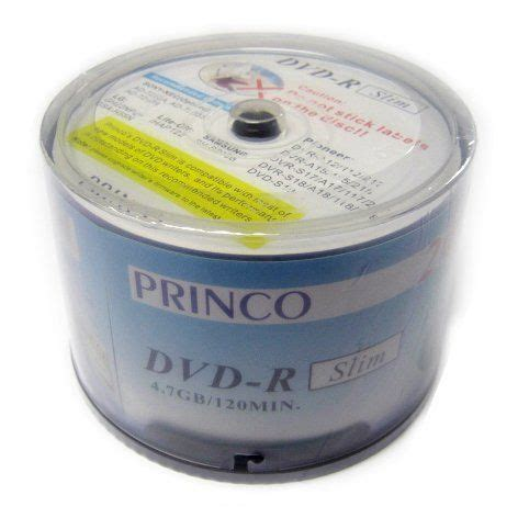 DVD-R 24x Slim White Princo Brand Printed Blank Media 240pcs