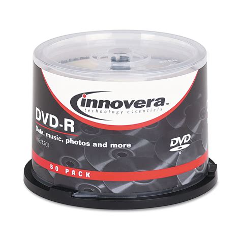 DVD-R Discs, 4.7GB, 16x, Spindle, Silver, 50/Pack, Sold as 1 Package