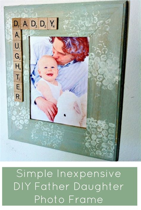 Daddy Daughter Picture Frame Diy Present