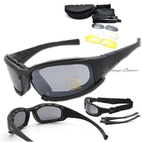 feb0ae4484f8 Daisy Polarized X7 Army Sunglasses 4 Lens Kit, Military War Game.
