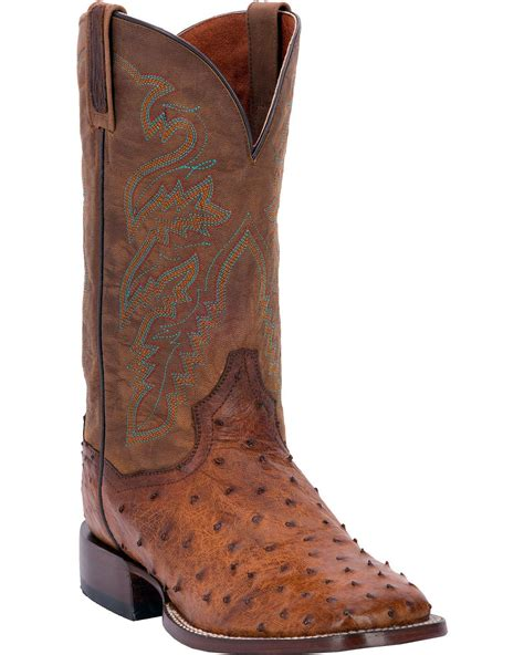 Dan Post Men's Chandler Full Quill Ostrich Cowboy Boot Square Toe - Dp2984