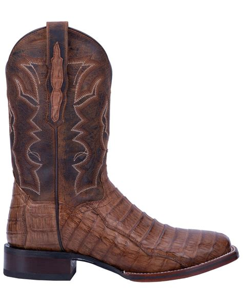 Dan Post Men's Denver Caiman Cowboy Boot Wide Square Toe - Dp2805