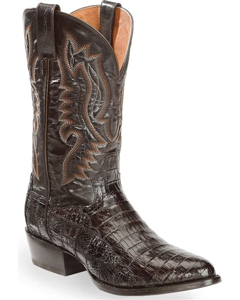 Dan Post Men's Everglades Belly Caiman Cowboy Boot Round Toe - Dp3311