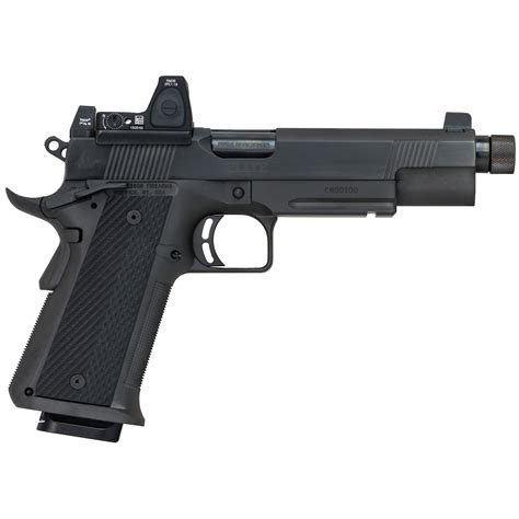 Dan Wesson 10mm 1911 With Red Dot Sight And Dbpower 551 Red Dot Sight