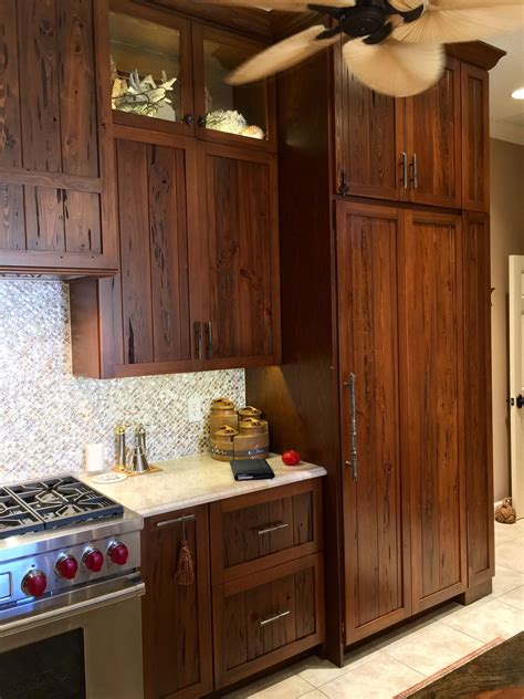Dark Stained Cypress Cabinets