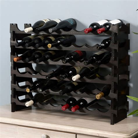 Dark Wood Wine Racks UK