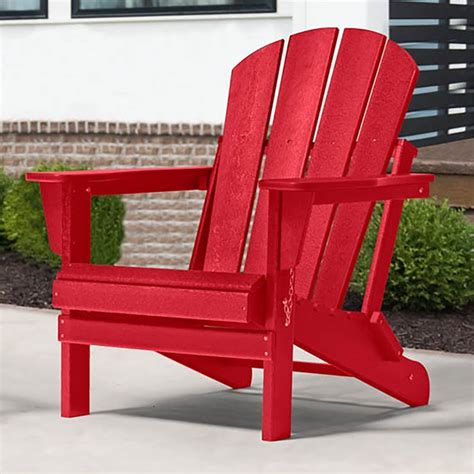 Dark-Red-Plastic-Adirondack-Chairs