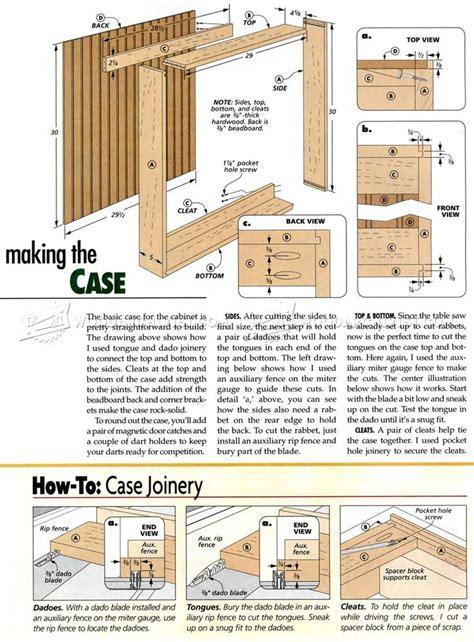 Dartboard-Cabinet-Plans-Free