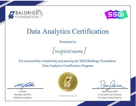 Data Analytics Certification Legitimacy