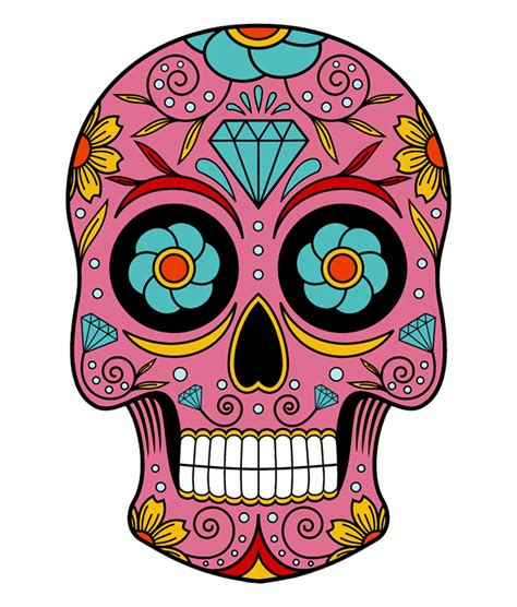 Day The Dead Skull Drawing Simple Designs
