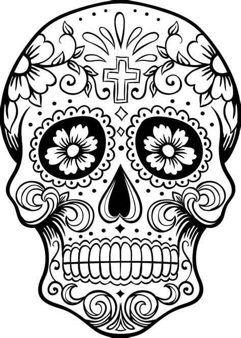 Day The Dead Skulls Color