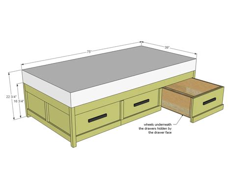 Daybed With Storage Plans