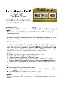 Deal Lesson Plan Math Door Simulation
