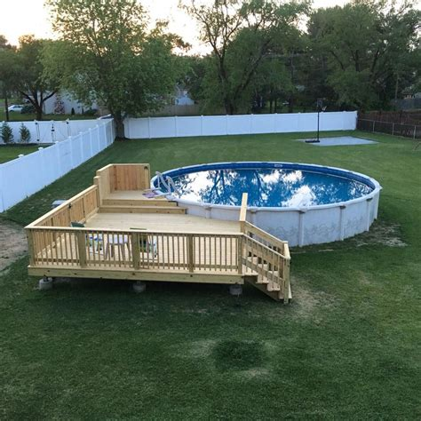 Deck Addition Plan For Above Ground Pool